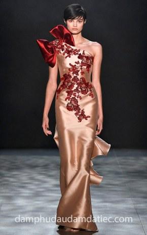 may dam da hoi dep an tuong ao cuoi meera meera fashion concept Marchesa_FW17_Look27