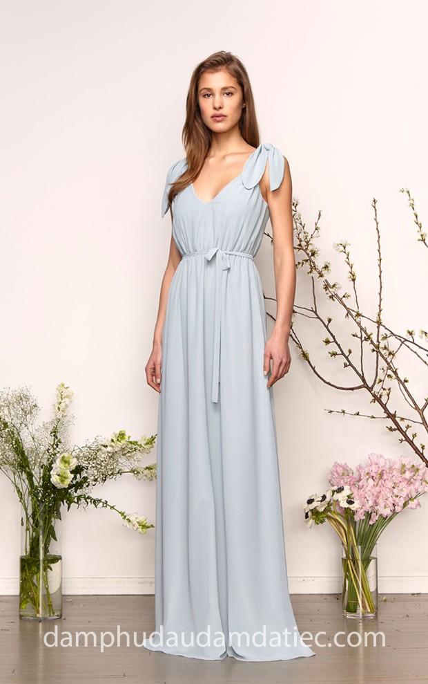 ao cuoi meera meera bridal dam phu dau dam da tiec tp hcm Monique Lhuillier Bridesmaid Dress Spring 2019 Aqua