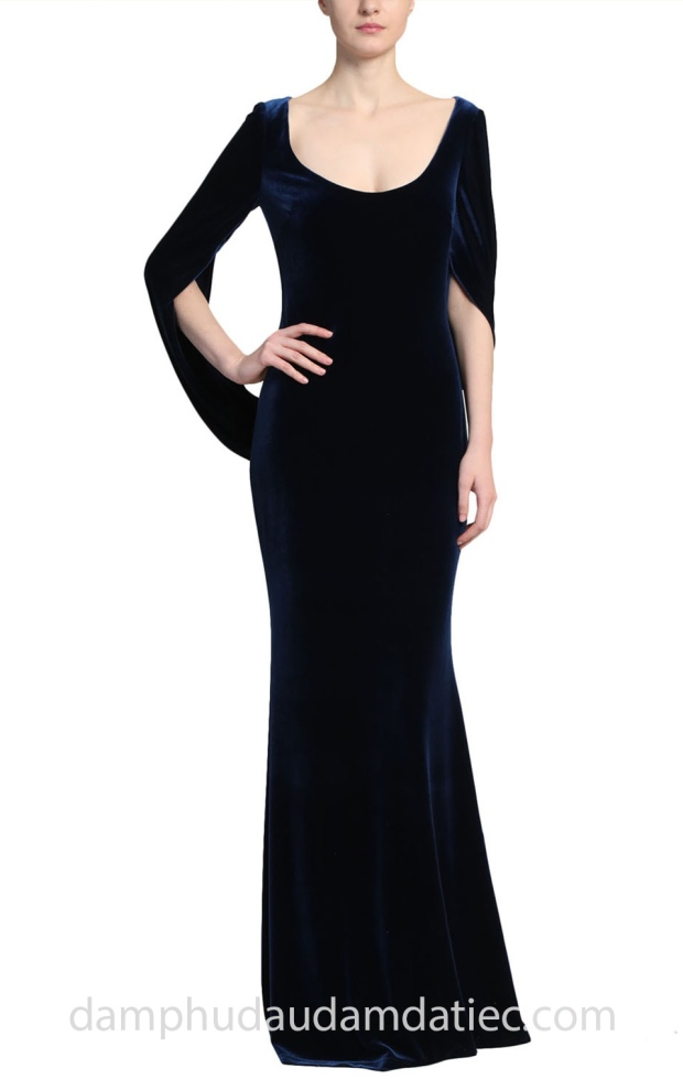 may ao cuoi dam da tiec meera meera fashion concept 2019 Badgley Mischka Velvet