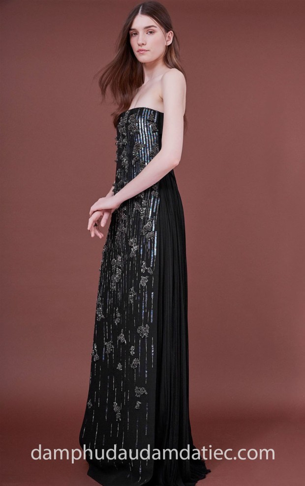 may dam da tiec tp hcm meera meera fashion concept 2019 J.Mendel PreFall 2018 Black Pleated