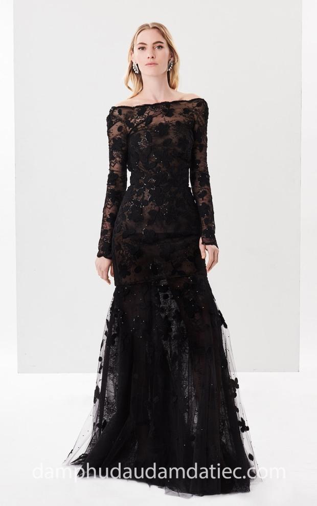 dam da hoi tay dai ren Oscar de la Renta 2018 Off Sequin may dam da hoi dep tp hcm meera meera fashion concept