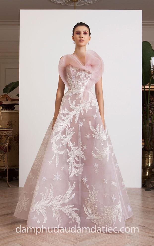 dam da tiec cong chua xuyen thau may dam da tiec Meera Meera Fashion Concept