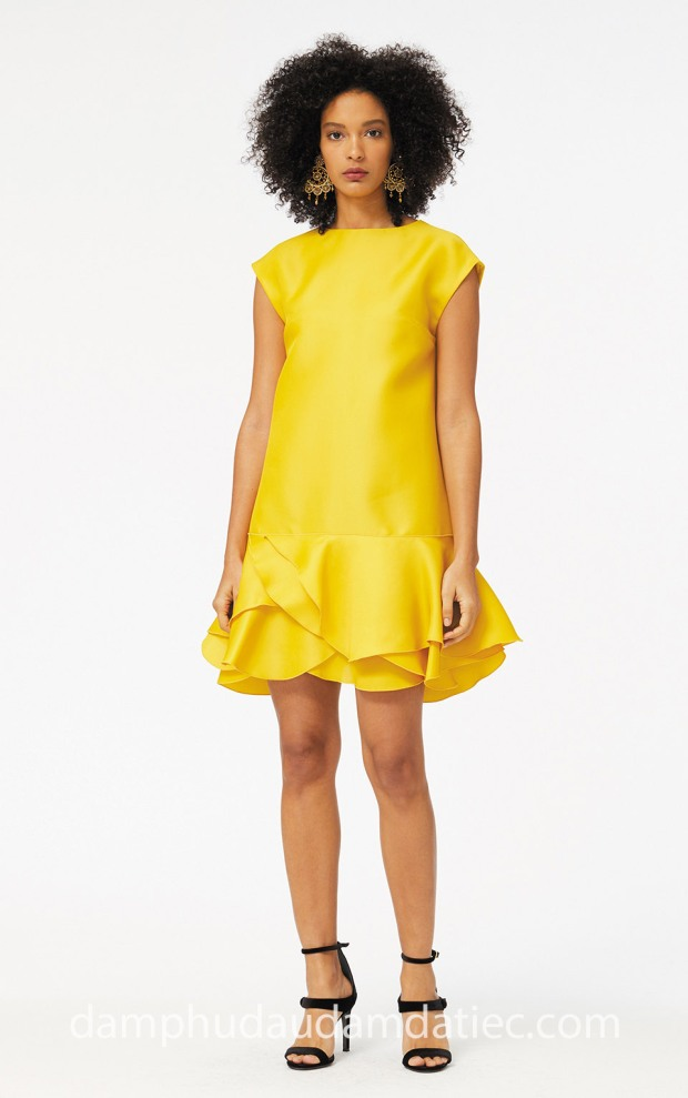 dam da tiec Meera Meera Fashion Concept may dam da tiec dep Sai Gon Oscar de la Renta 2018 Ochre