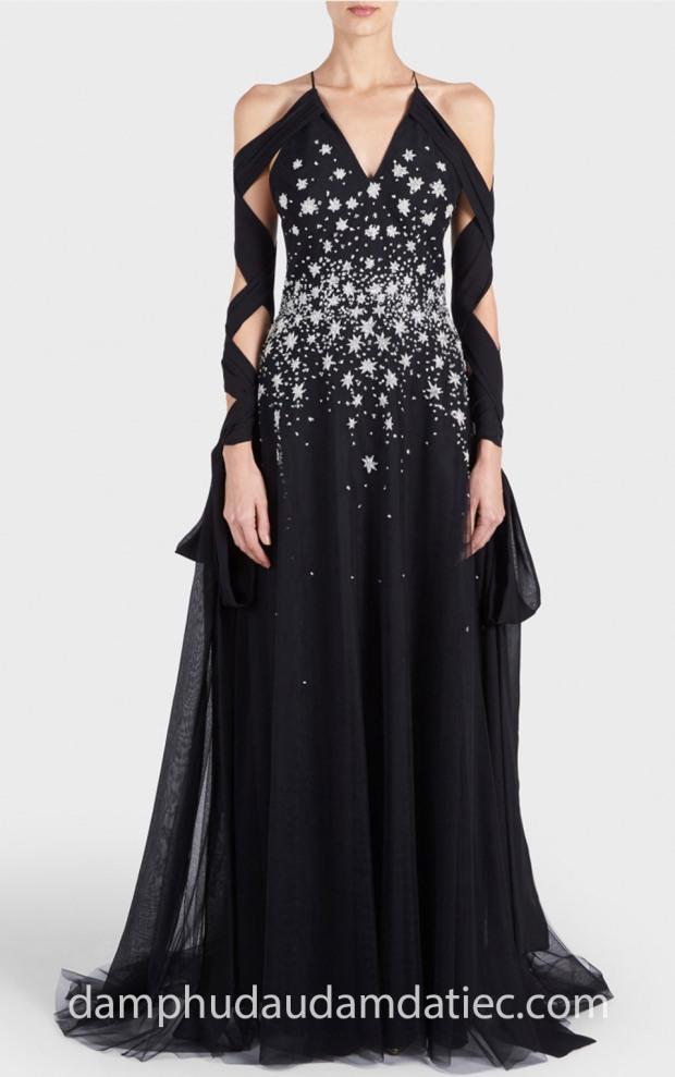 may dam da tiec dep tp hcm Meera Meera Fashion Concept dam da hoi an tuong GEORGES-HOBEIKA-PreFall-18-look30