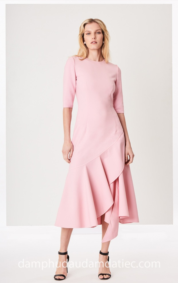xuong may dam da tiec dep TP HCM Meera Meera Fashion Concept Oscar de la Renta 2018 Asymme
