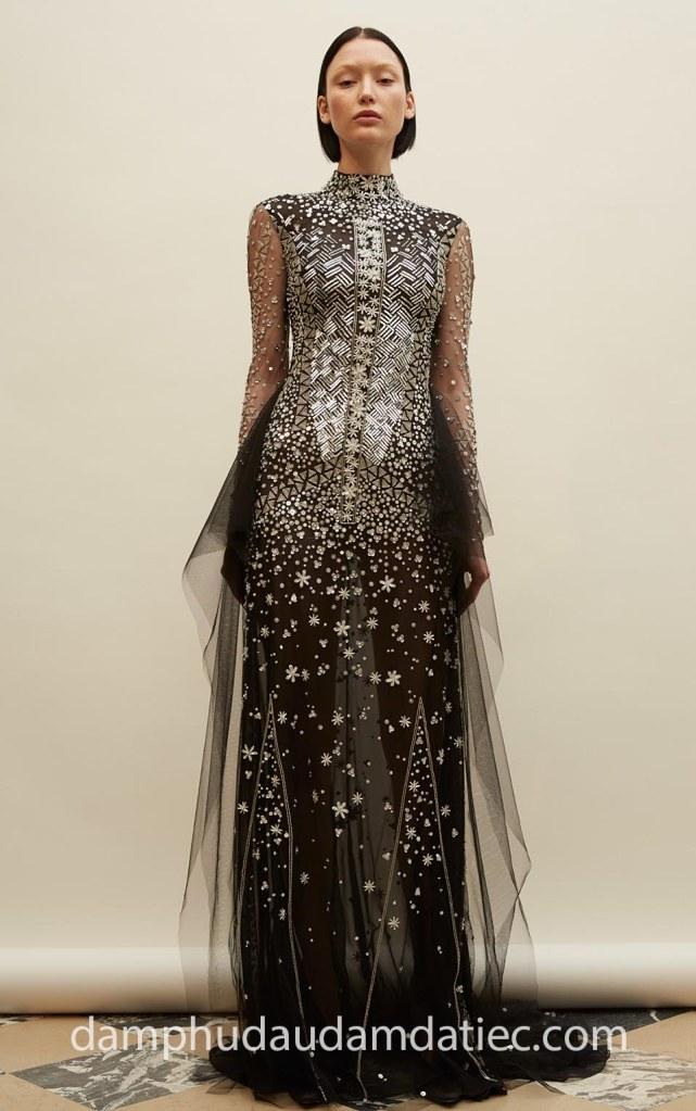 Đầm dạ tiệc cổ cao NN6973